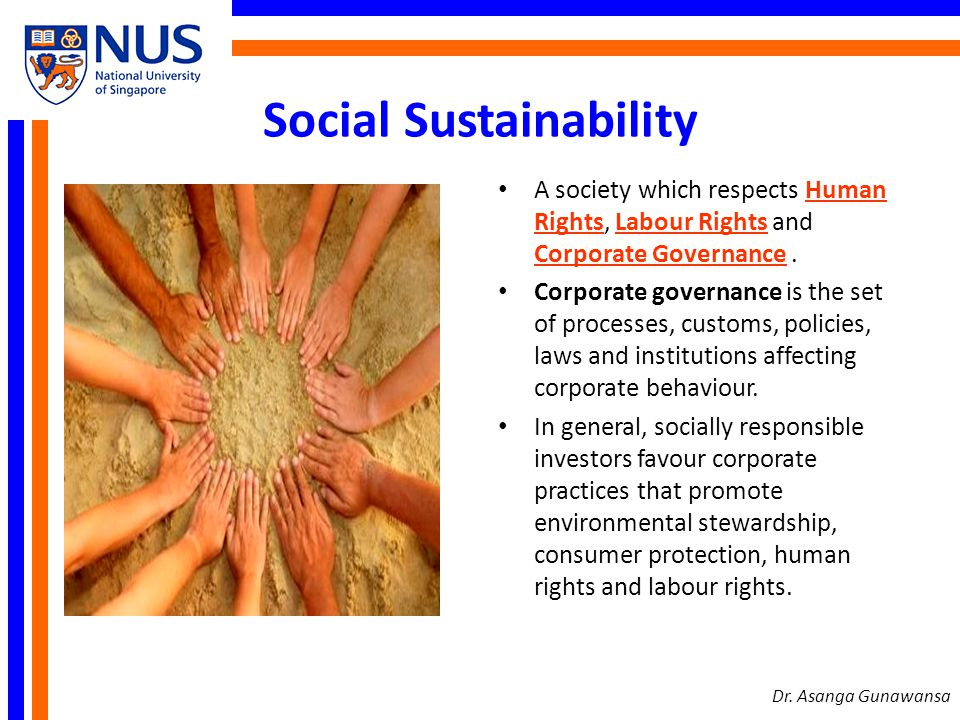 Social Sustainability Dr.