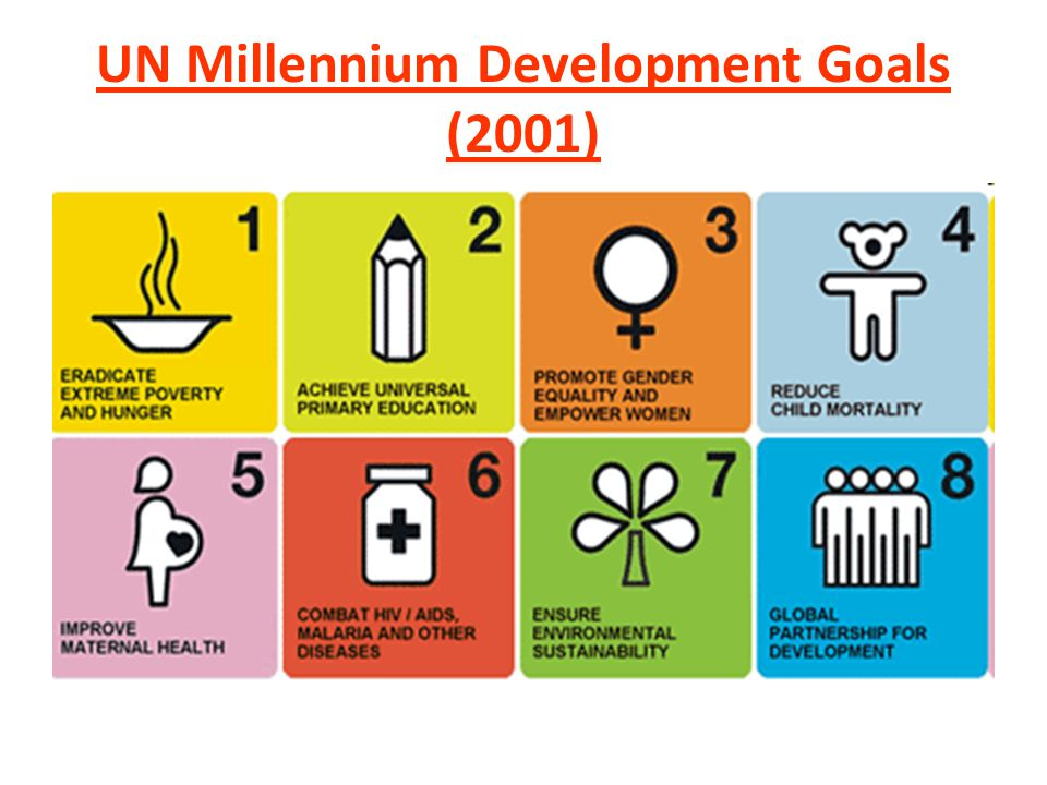 Sustainable Development Challenges UN Millennium Development Goals (2001) Goal 1- Eradicate Extreme Poverty and Hunger – Target 1A - Halve, between 1990 and 2015, the proportion of people whose income is less than one dollar a day.