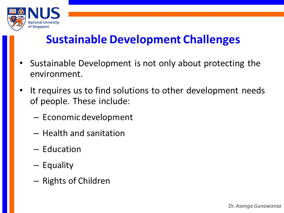 Sustainable Development Challenges - let us not loose focus Climate change is real.