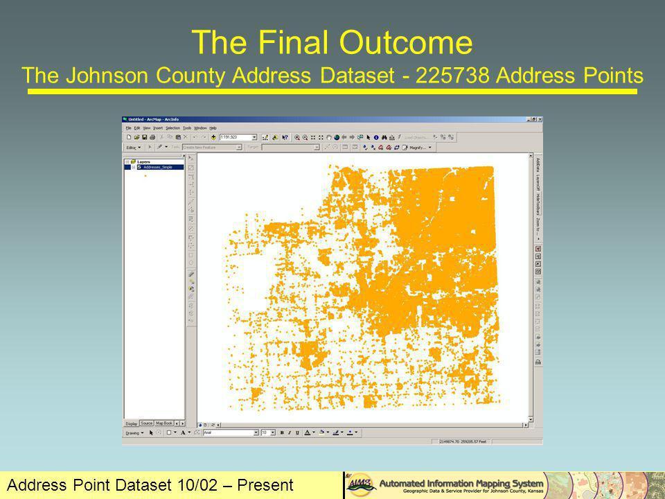 Address Point Dataset 10/02 – Present Contacts Keith Shaw Johnson County AIMS 111 S Cherry St Olathe, KS 66061 v.