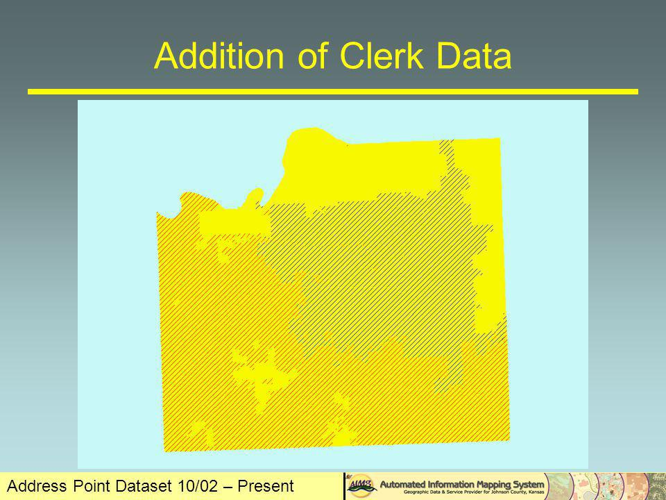 Address Point Dataset 10/02 – Present The Rest Filled Out