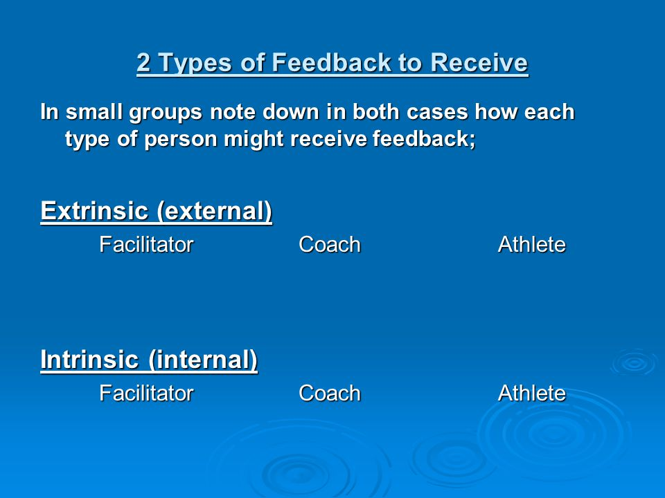 Activity On your own, note down 2-3 areas that you would like to improve on in the next few months, with regard to giving and receiving feedback.