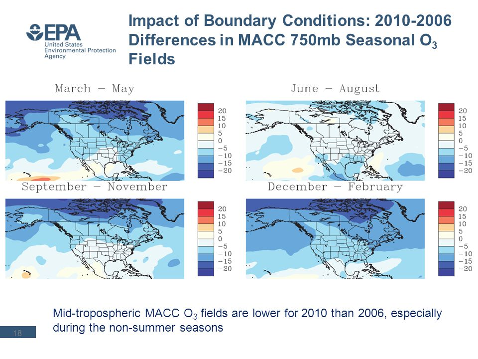 19 Impact of Boundary Conditions on Regional- Scale Simulations: DM1HR O 3 Bias for WRF/CMAQ and MACC 2006 Bias 2010 Bias Wintertime O 3 bias for WRF/CMAQ generally tracks bias for MACC fields Low wintertime O 3 bias in 2010 likely driven by MACC fields