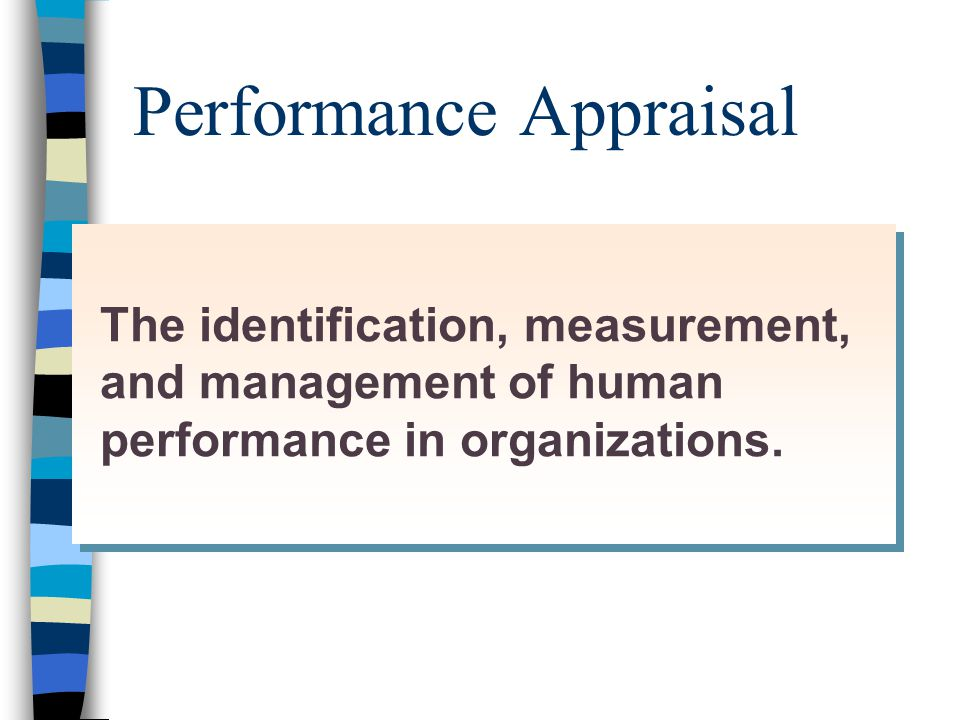 A Model of Performance Appraisal Identification Measurement Management
