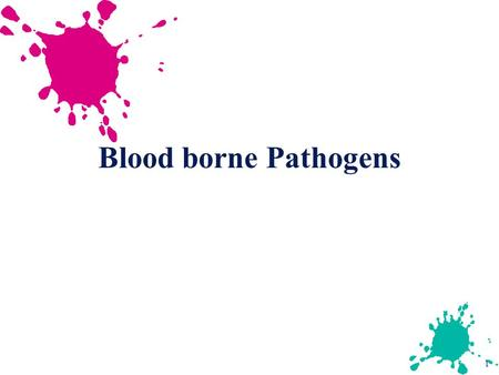 Blood borne Pathogens.