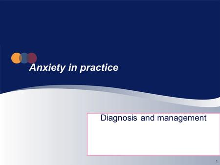 1 Anxiety in practice Diagnosis and management. 2 What is 'anxiety'? A normal feeling: transient, disagreeable emotional state, may be adaptive, signals.