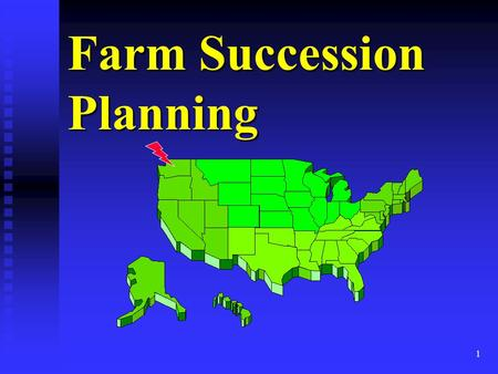 1 Farm Succession Planning. 2 Marsha Goetting Ph.D., CFP, CFCS èProfessor & Extension Family Economics Specialist èDepartment of Agricultural Economics.