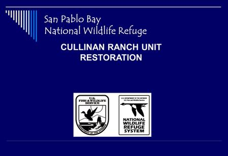 San Pablo Bay National Wildlife Refuge CULLINAN RANCH UNIT RESTORATION.