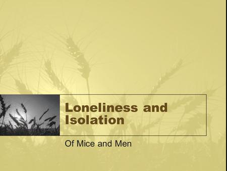 essay on loneliness and isolation