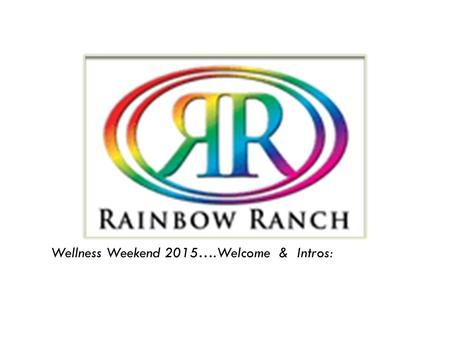 Wellness Weekend 2015….Welcome & Intros:. WELLNESS Is finding a balance between Body Mind Spirit…. Creating that Balance is Change that can help improve.