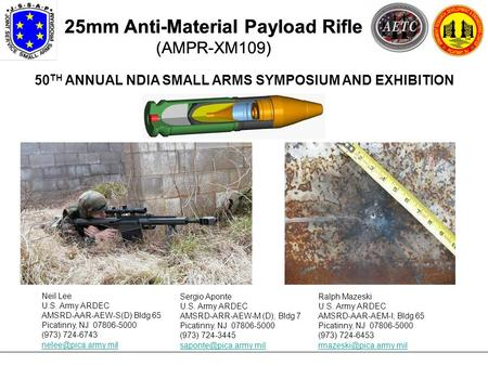 50TH ANNUAL NDIA SMALL ARMS SYMPOSIUM AND EXHIBITION