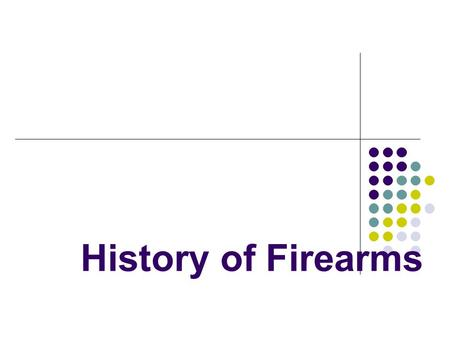 History of Firearms.