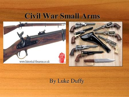 Civil War Small Arms  By Luke Duffy.