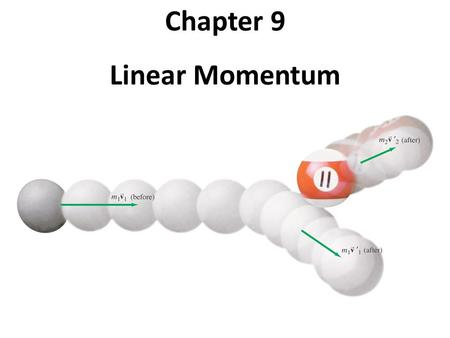 Chapter 9 Linear Momentum. Units of Chapter 7 Momentum and Its Relation to Force Conservation of Momentum Collisions and Impulse Conservation of Energy.