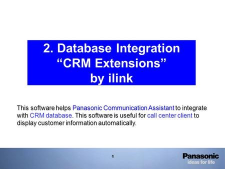 "2. Database Integration ""CRM Extensions"" by ilink"