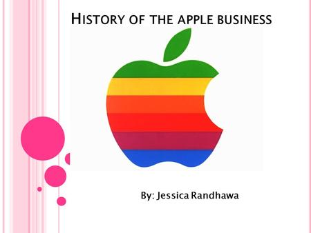 H ISTORY OF THE APPLE BUSINESS By: Jessica Randhawa.
