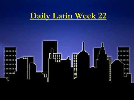 "Daily Latin Week 22. Monday, February 23, 2015 Root: FAC/FACT means ""to make, do"" 1. The root SIMIL means ""like/similar."" If you make a facsimile of an."
