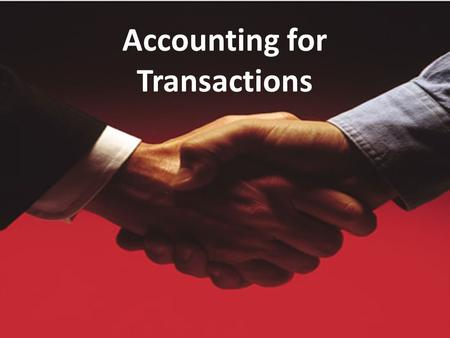 Accounting for Transactions. Transactions A business transaction is an event that occurs that changes the financial position of a business. These may.