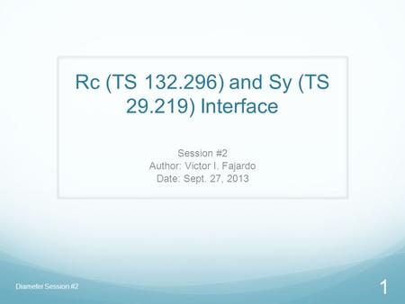 Rc (TS ) and Sy (TS ) Interface