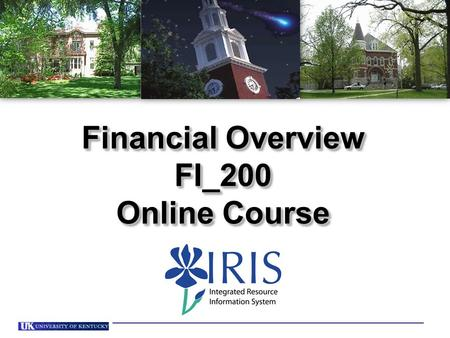 Financial Overview FI_200 Online Course Financial Overview FI_200 Online Course.
