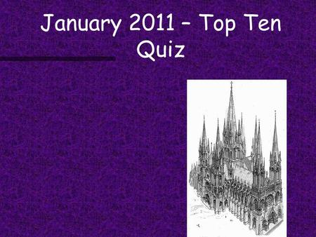 "January 2011 – Top Ten Quiz. Geneticists are tracing the movements of people in prehistoric Europe using our DNA as a time machine.... — Joe Palca, ""Tracing."