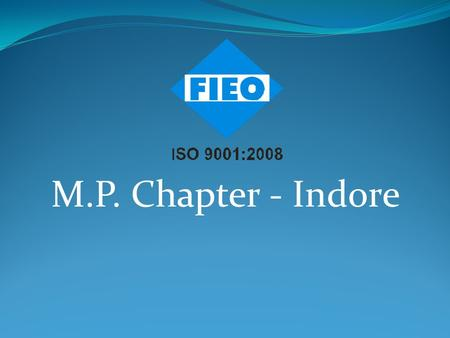 M.P. Chapter - Indore. Exports of Top 15 States of India.