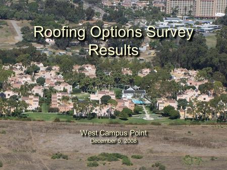 Equivalent Uniform Annual Cost A New Approach To Roof