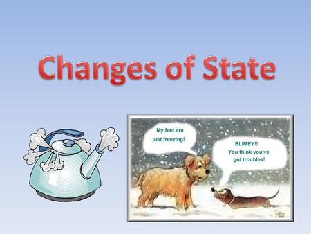 Changes of State Matter on Earth can exist in any of these states – gas, liquid, or solid – and can change from one state to another. Listed below are.