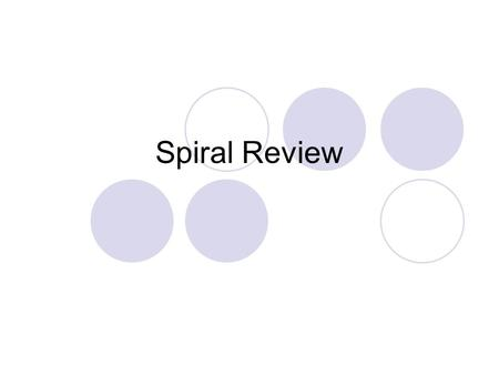 Spiral Review.