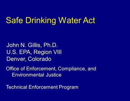 safe drinking water act 1974 pdf