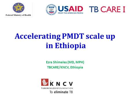Accelerating PMDT scale up in Ethiopia