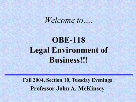 legal environment of business notes