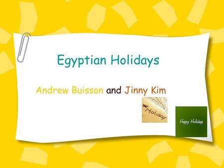 Egyptian Holidays Andrew Buisson and Jinny Kim Ramadan Ramadan starts on the ninth month of the Muslim calendar. Ramadan is a time where people concentrate.