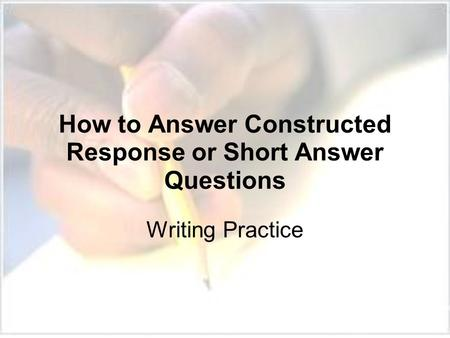 constructing short essays It is very important in modern studies to learn how to write short but effective essays the basic rule is to practice essay writing in the best way.