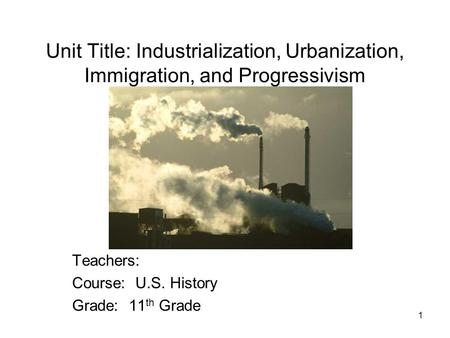 c c immigration industrialization and urbanization