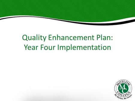 Quality Enhancement Plan: Year Four Implementation.