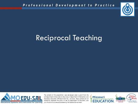 Reciprocal Teaching.