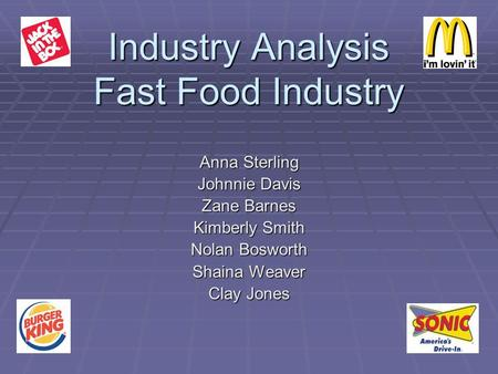 the fast food industry ananlysis