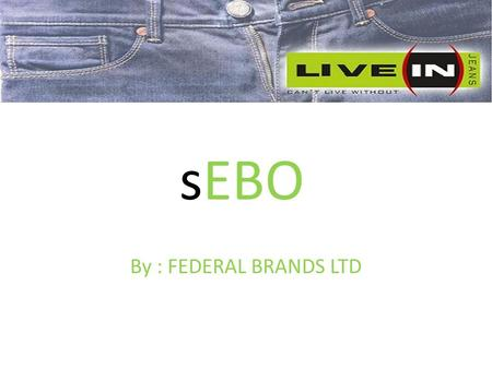 SEBO By : FEDERAL BRANDS LTD. Intro of Federal Brands. Live In Manufactured And Marketed By Federal Brands Ltd. Our mission is to cater the market with.