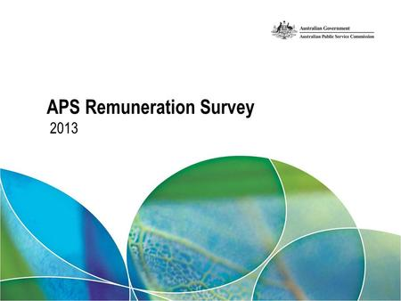 2013 APS Remuneration Survey. Your presenter Christopher Giuliano – APS Remuneration Survey data collection, compilation, tabulation – APSED.