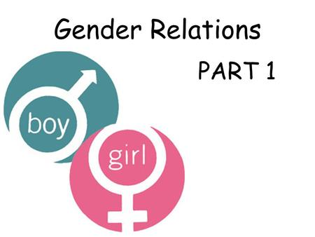 Gender Relations PART 1. Friends neighbourssiblings cousins Class mates.