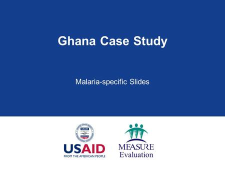 Malaria-specific Slides