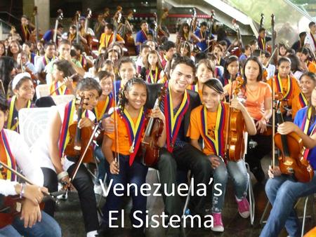 Venezuela's El Sistema. 1. Introducing Venezuela's 'El Sistema' marshallmarcus.wordpress.com/echo These slides available at: