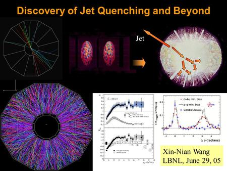 Jet Discovery of Jet Quenching and Beyond Xin-Nian Wang LBNL, June 29, 05.