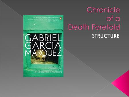  It is a journalistic account of an historical murder that took place in Sucre, Colombia  It is a psychological detective story and a work of allegorical.