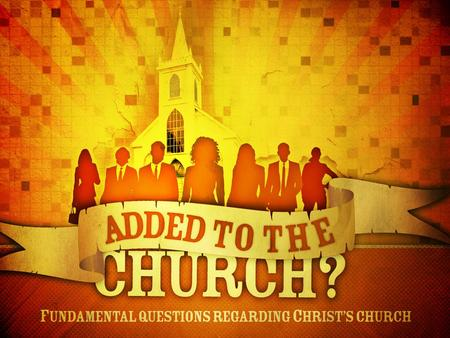 "Introduction Many Christians are continually asked by others about the church of which we belong. We might give them a name: ""church of Christ"" or ""Franklin."