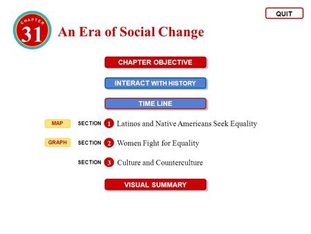 31 An Era of Social Change Latinos and Native Americans Seek Equality