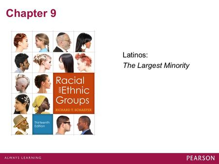 Chapter 9 Latinos: The Largest Minority. Hispanic Population Nearly 32 million, or two-thirds of Hispanics in the United States: –Are Mexican Americans,