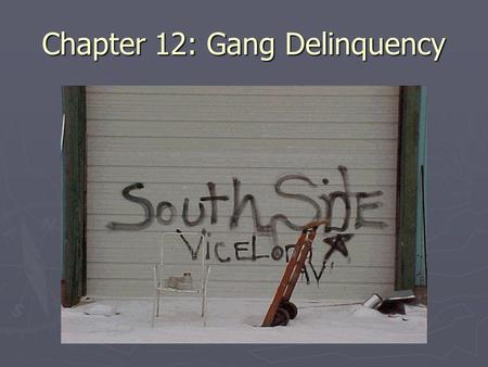 Chapter 12: Gang Delinquency. ► A. Introduction ► Peers and Group Delinquency ► Gangs and Gang Delinquency  -Problems in Defining Gangs  -Joining Gangs.