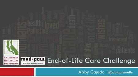 End-of-Life Care Challenge Abby Cajudo
